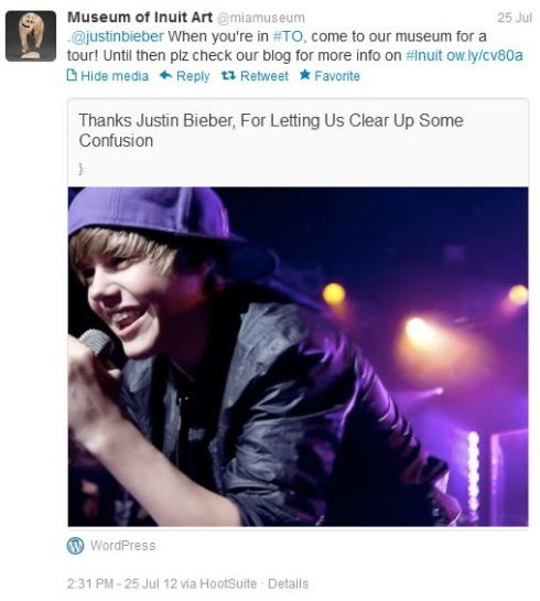 MIA invites Justin Bieber for a tour
