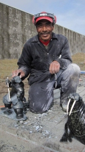 Jaco Ishulutaq working in the Arctic